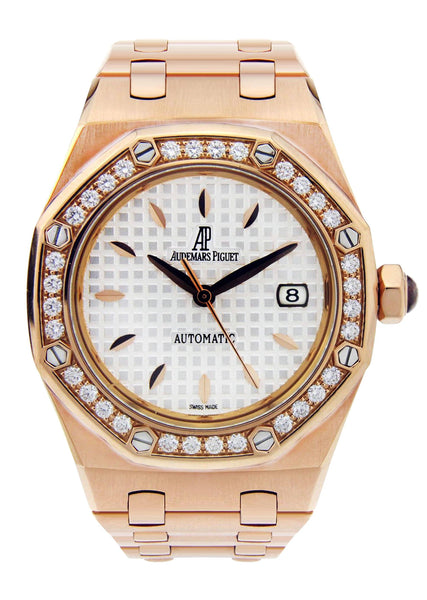 Audemars Piguet Royal Oak Watch For Women | 18K Rose Gold | 33 Mm