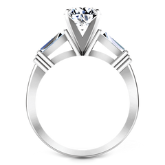 Three Stone Engagement Ring Structural Tapered Baguette 14K White Gold engagement rings imaginediamonds