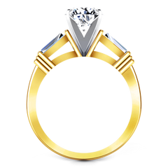 Three Stone Diamond Engagement Ring Structural Tapered Baguette 14K Yellow Gold engagement rings imaginediamonds