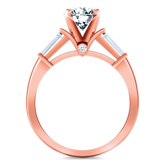 Pave Diamond Engagement Ring Classic Baguette 14K Rose Gold engagement rings imaginediamonds