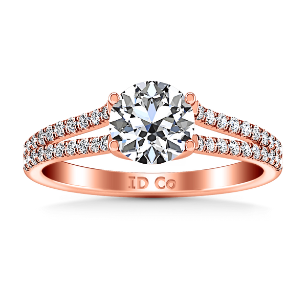 Pave Diamond Engagement Ring Dream 14K Rose Gold