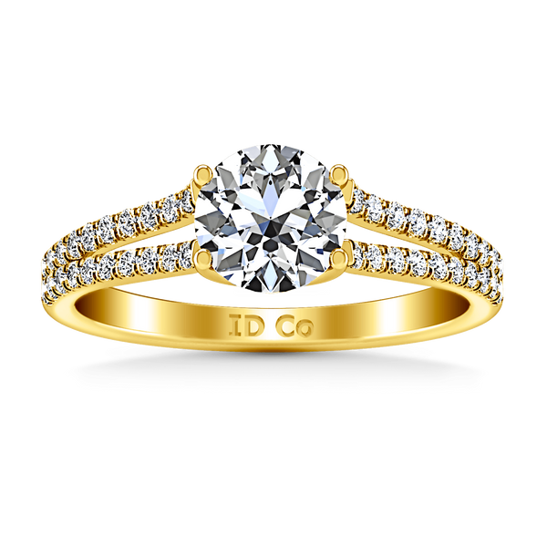 Pave Diamond EngagementRing Dream 14K Yellow Gold