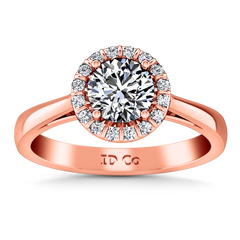Halo Diamond Engagement Ring Soleil 14K Rose Gold engagement rings imaginediamonds