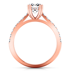 Pave Diamond Engagement Ring Michelle 14K Rose Gold engagement rings imaginediamonds