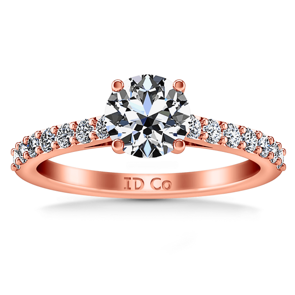Pave Diamond Engagement Ring Harmoney 14K Rose Gold