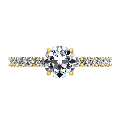 Pave Diamond EngagementRing Harmoney 14K Yellow Gold engagement rings imaginediamonds