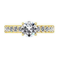Pave Diamond EngagementRing Allure 14K Yellow Gold engagement rings imaginediamonds