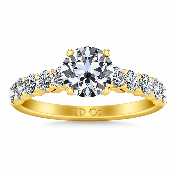 Pave Diamond EngagementRing Grande 14K Yellow Gold