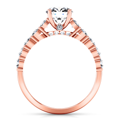 Pave Diamond Engagement Ring Grande 14K Rose Gold