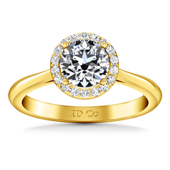 Halo Diamond Engagement Ring Etoile 14K Yellow Gold engagement rings imaginediamonds