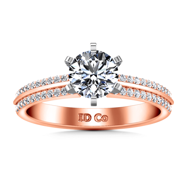 Pave Diamond Engagement Ring Amanda 14K Rose Gold