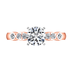 Pave Diamond Engagement Ring Rachel 14K Rose Gold engagement rings imaginediamonds