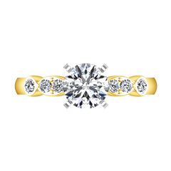 Pave Diamond EngagementRing Rachel 14K Yellow Gold engagement rings imaginediamonds