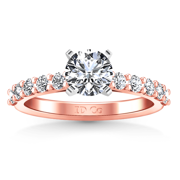 Pave Diamond Engagement Ring Cherish 14K Rose Gold