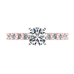 Pave Diamond Engagement Ring Cherish 14K Rose Gold engagement rings imaginediamonds