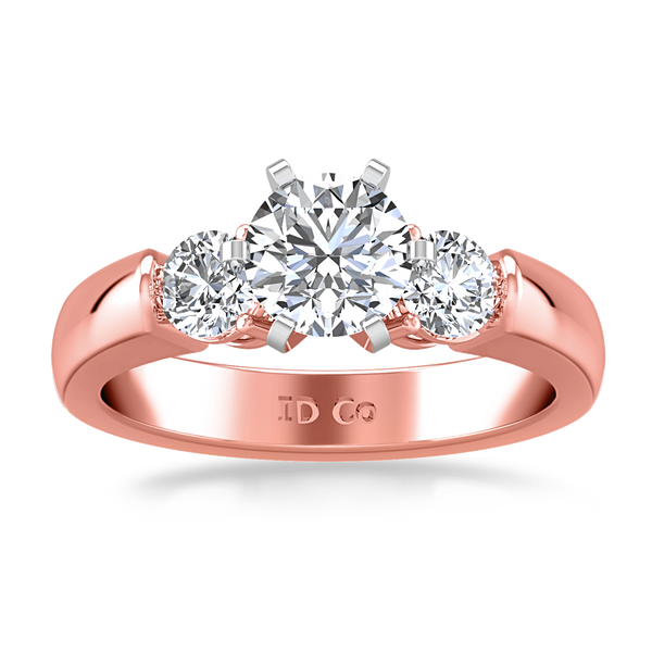 Three Stone Diamond EngagementRing Justine 14K Rose Gold