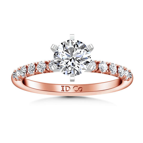Pave Diamond Engagement Ring Grace 14K Rose Gold