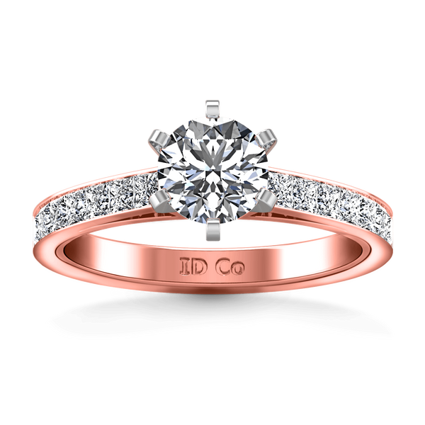 Pave Diamond Engagement Ring Calla 14K Rose Gold