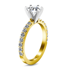 Pave Diamond EngagementRing Lauren 14K Yellow Gold engagement rings imaginediamonds