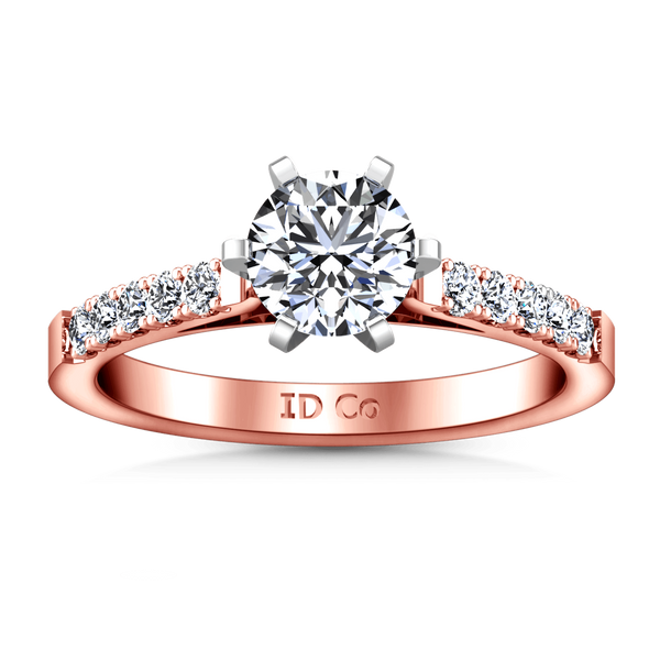 Pave Diamond Engagement Ring Beth 14K Rose Gold