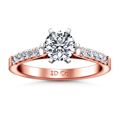 Pave Diamond Engagement Ring Beth 14K Rose Gold engagement rings imaginediamonds