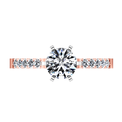Pave Diamond Engagement Ring Lauren 14K Rose Gold