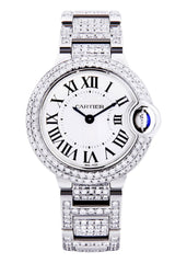 Cartier Ballon Bleu Watch For Women | Stainless Steel | 28 Mm