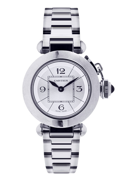 Cartier Miss Pasha Watch For Women | Stainless Steel | 27 Mm