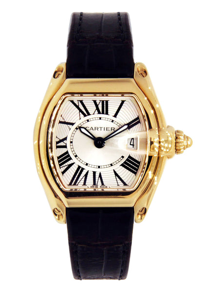 Cartier Roadster Watch For Women | 18K Yellow Gold | 31 Mm