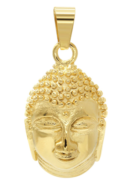 Mens Gold Plated Buddha Pendant | 21.2 Grams