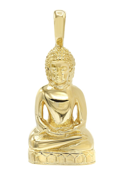 Mens Gold Plated Buddha Pendant | 28 Grams