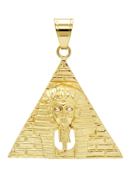 Mens Gold Plated Pharaoh Pendant | 13 Grams