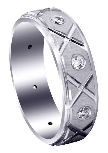 Classic Diamond Mens Wedding Band | 0.4 Carats (Cristian)