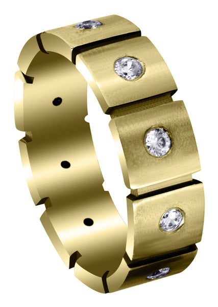 Yellow Gold Classic Diamond Mens Engagement Ring | 0.5 Carats (Fernando)
