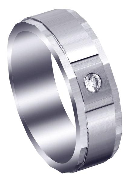 Classic Diamond Mens Wedding Band | 0.07 Carats (Cash)