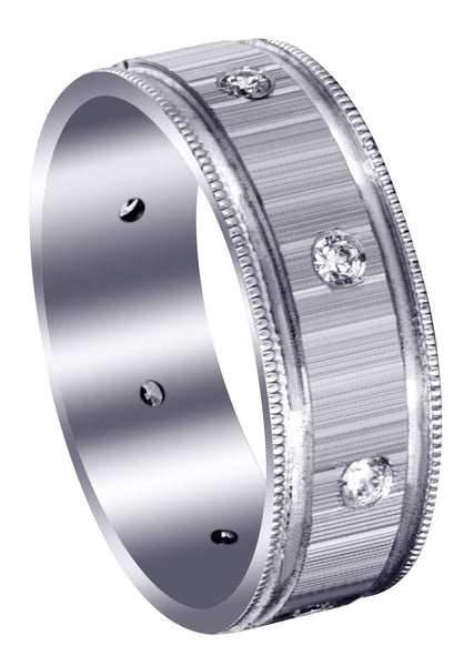 Classic Diamond Mens Wedding Band | 0.4 Carats (Collin)