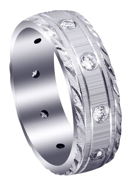 Classic Diamond Mens Wedding Band | 0.5 Carats (Peyton)