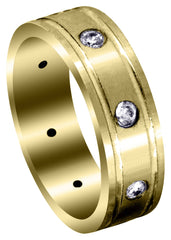 Yellow Gold Classic Diamond Mens Wedding Band | 0.56 Carats (Travis)
