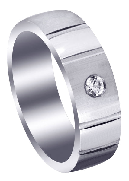 Contemporary Diamond Mens Wedding Band | 0.12 Carats (Dallas)