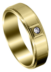 Yellow Gold Classic Diamond Mens Wedding Band | 0.05 Carats (Lukas)
