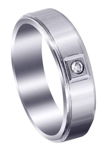 Classic Diamond Mens Wedding Band | 0.05 Carats (Lukas)