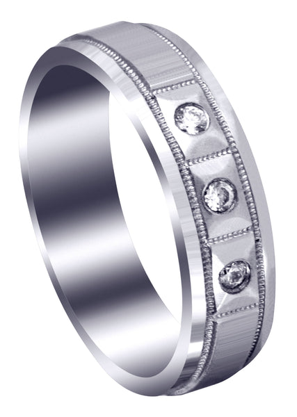 Classic Diamond Mens Wedding Band | 0.09 Carats (Zander)
