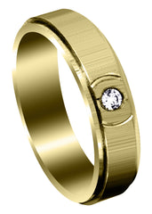 Yellow Gold Classic Diamond Mens Wedding Band | 0.07 Carats (Clayton)