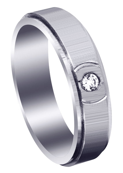 Classic Diamond Mens Wedding Band | 0.07 Carats (Clayton)