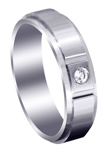 Contemporary Diamond Mens Wedding Band | 0.05 Carats (Francisco)