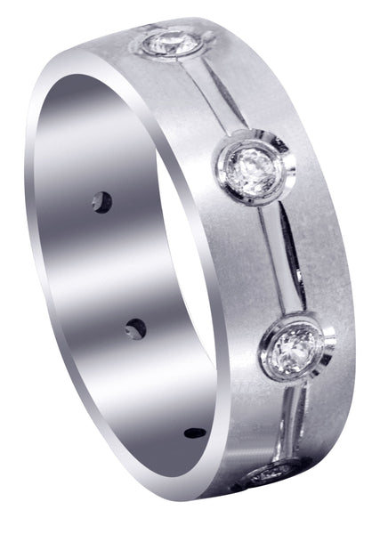 Classic Diamond Mens Wedding Band | 0.04 Carats (Stephen)