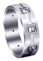 Classic Diamond Mens Wedding Band | 0.4 Carats (Kameron)
