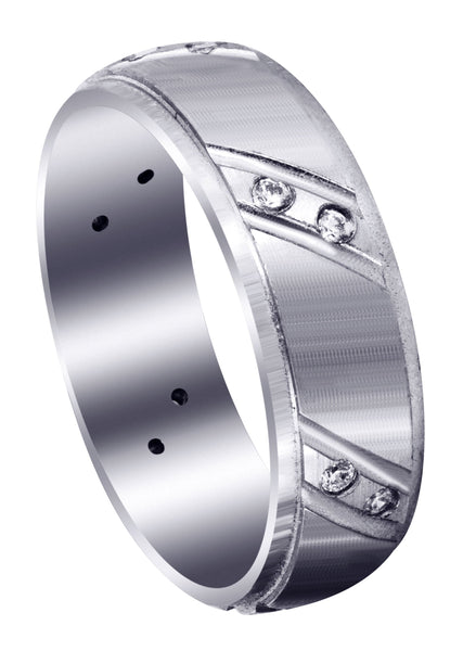 Classic Diamond Mens Wedding Band | 0.18 Carats (Messiah)