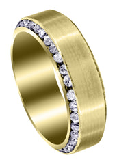 Yellow Gold Classic Diamond Mens Wedding Band | 2.1 Carats (Rylan) Yellow Wedding Band FROST NYC