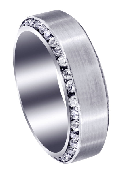 Classic Diamond Mens Wedding Band | 2.1 Carats (Rylan)